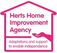 Logo for Herts Home Improvement Agency, links to their website